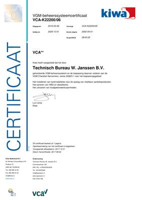 Certificaat-VCA